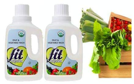 Fit Organic 32 oz. Produce Wash Soaker/Refill (2-(Pack)) (Fit Fruit And Vegetable Wash)