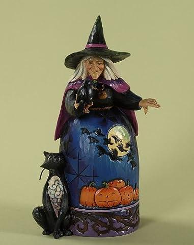Enesco 4027793 Jim Shore Heartwood Creek Halloween Witch with Crow Figurine, (Halloween Jim Shore)