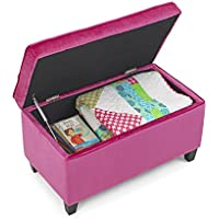 4D Concepts Zooey Girls Storage Bench in Pink