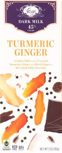 Vosges Haut-Chocolat Turmeric Ginger Chocolate, 3 oz (pack of 4) by Vosges Haut