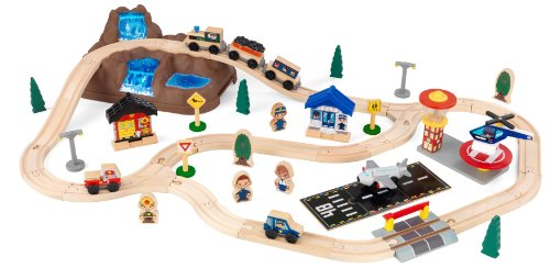 Deluxe Wooden Train Set - KidKraft Bucket Top Mountain Train Set