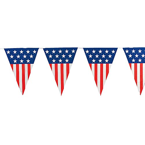 Fun Express - Large Patriotic Pennant Banner (24ft)