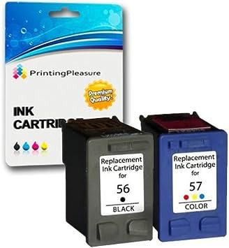 Printing Pleasure 2 Compatibles HP 56 & HP 57 Cartuchos de Tinta ...
