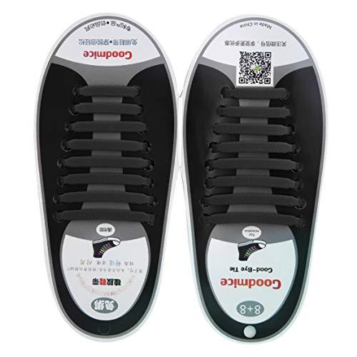 in da Lacci in Uomini 16pcs Scarpe Senza Gli Nuovo Set Design Tutte per Silicone Le per Jeans Adatti Elastico Pizzo Sneakers Comodo in Wnxg4a