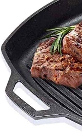 Noir Pan - Fonte moderne rayé Frying Pan, Barbecue antiadhésifs Petit déjeuner Pan ZHANGKANG