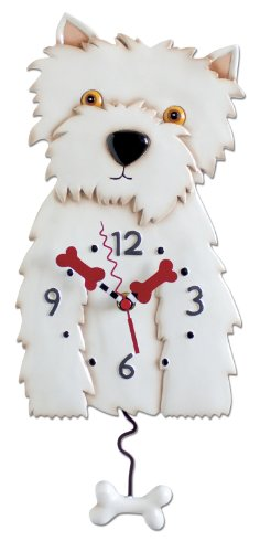 Funny Pets Westie Dog Clock