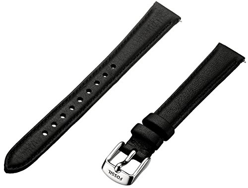 Fossil Leather Strap - Fossil Women's S141065 Leather 14mm Watch Strap - Black