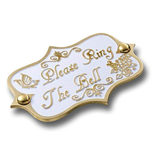 (Please Ring The Bell Brass Door Sign. Vintage Shabby Chic Style Home Décor Wall Plaque Handmade by The Metal Foundry)