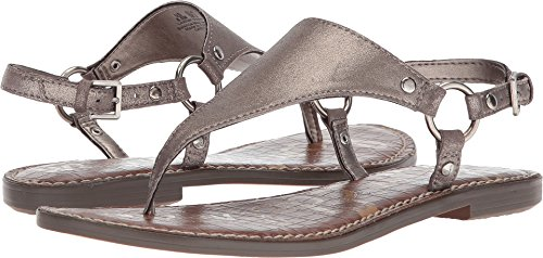 Sam Edelman Women's Greta Pewter Dreamy Metallic Leather 8 M US