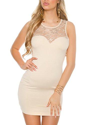 KouCla - Vestido - Estuche - para mujer Beige