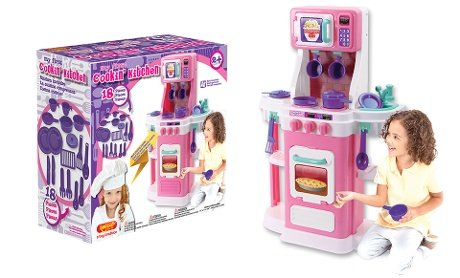 amazon com play set my first cookin kitchen toys games rh amazon com my first cooking kitchen my first cookin' kitchen play set