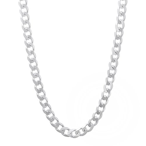 Italian Sterling Silver Curb Chain - 3.5mm - 16