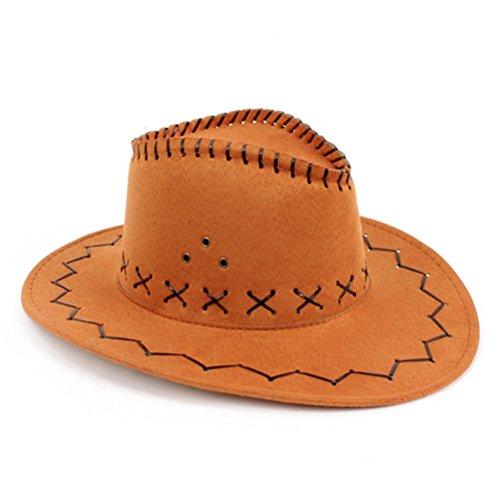 [HMILYDYK Wild Brim Cowboy Hat Fancy Dress Party Accessory Country Western Rancher] (Woman Gunslinger Costume)