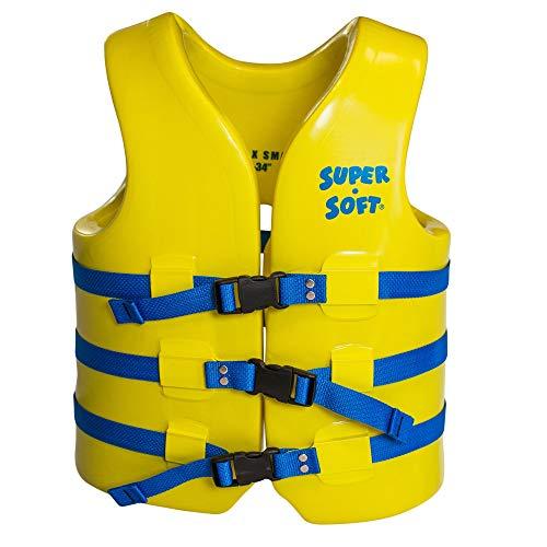 TRC Recreation Adult Super-Soft USCG Vest, Yellow, X-Small
