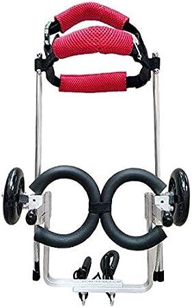 WZCC Soporte de scooter asistido para rehabilitación médica de mascotas Silla de ruedas ajustable para mascotas, vehículo de entrenamiento de rehabilitación de mascotas, reparación de patas traseras,