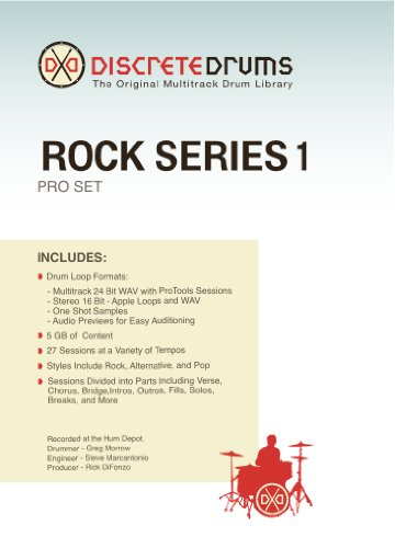 Discrete Drums Rock Series 1 Pro - Drums Series Discrete