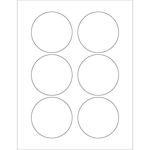 BOX USA BLL150 Tape Logic Circle Laser Labels, 3'', 3'' Width, White (Pack of 600) by BOX USA