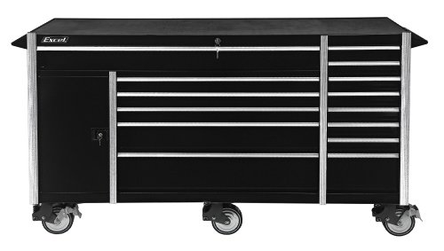 Cabinet with Fourteen Drawers, 72-Inch, Black (Excel Roller Cabinet)