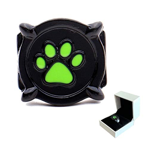 Cat Noir Ring for Kids - Adrien Chat Ring Jewelry Costume Cosplay Accessories Gifts (US 5)