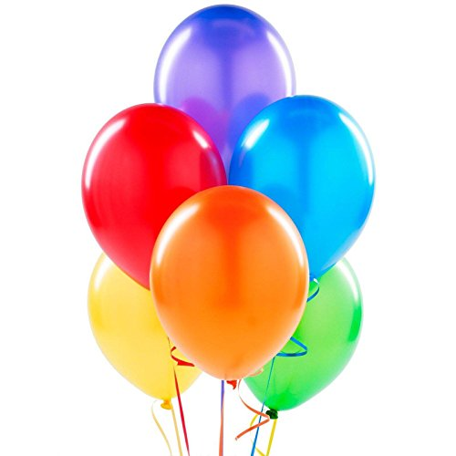 Carnival Costumes Manufacturer - Party Supplies - Assorted Color Latex Balloons (6)