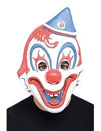 Morbid Enterprises Circus Clown Mask, Red/White/Blue, One Size