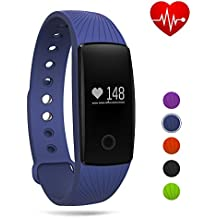 Fitness Tracker Watch,Heart Rate Monitor Bluetooth Smart Wristband Sport Bracelet for Android & IOS