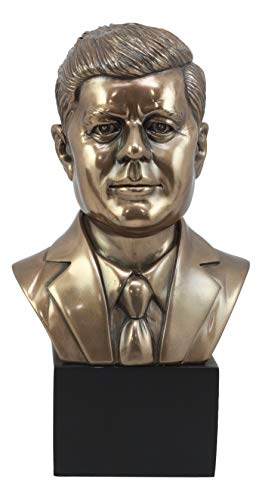 "Ebros United States President John Fitzgerald Kennedy Bust Figurine 9.5""Tall American Political Hero John F Kennedy Statue"