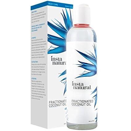 Aceite de Coco Humectante Fraccionado InstaNatural - 100% Puro - Para la cara, cuerpo