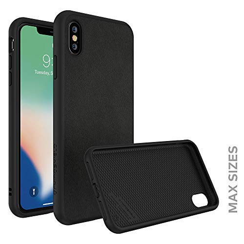 RhinoShield Full Impact Protection Case for [ iPhone Xs Max ], SolidSuit Series, Military Grade Drop Protection, Supports Wireless Charging, Slim, Scratch Resistant - Leather