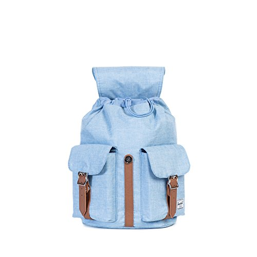 Herschel Supply Company SS16 Casual Daypack, 13 Liters, Chambray Crosshatch/ Tan