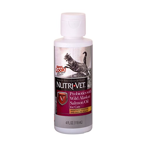 Nutri-Vet Probiotics with Wild Alaskan Salmon Oil for Cats, 4-Ounce