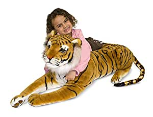 Melissa & Doug Giant Tiger - Lifelike Stuffed Animal (over 5 feet long)