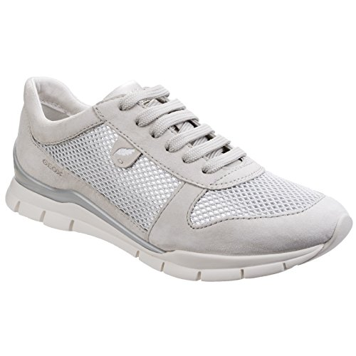 Geox Womens/Ladies Sukie Lace Up Sports Sneakers (7 US) (Ivory) Review