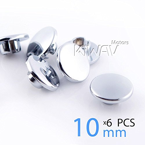 KiWAV Magazi motorcycle round bolt cap screw cover plug for 10mm thread bolts (allen key ()