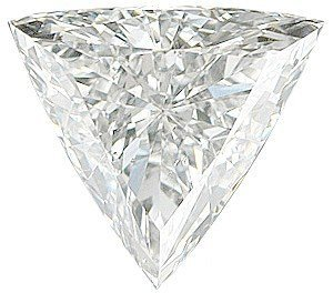 Si2 Natural (Natural Diamond Melee, Trillion Shape, G-H Color - SI2/SI3 Clarity, 4.50 mm in Size, 0.25 Carats)