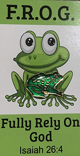 (Fully Rely On God F.R.O.G. Cards with Frog Lapel Pin Gift Sets, 10 Count)