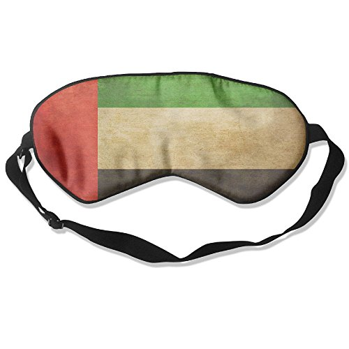 Longnankejilifeaa Sleep Eyes Masks Covers Grunge United Arab Emirates Flag Silk Sleeping Blindfold Design Adjustable Strap Eyeshade For Travelling Shift Work Night Noon Nap Yoga