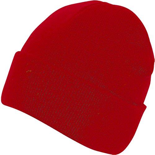Absoluta ropa hombres adultos gorro Casualwear Beanie sombrero doble piel Pee Cap Rosso