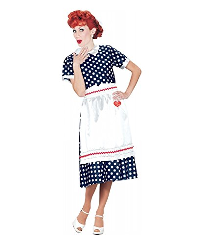 I Love Lucy Polka Dot Dress Adult Costume - Large