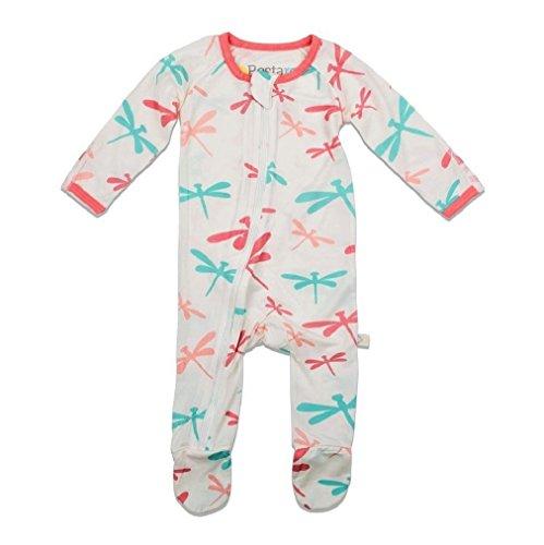 Bestaroo Baby Girl Dragonfly Zippered Footie