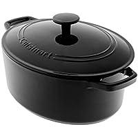 Cuisinart CI755-30EBK 5.5 Qt. Oval Cast Iron Casserole