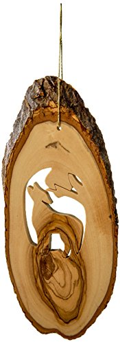 Earthwood W-18 Olive Wood Star of David Ornament