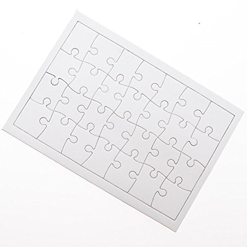 Amazon.com: Dozen Blank DIY Paper Jigsaw Puzzles: Toys & Games