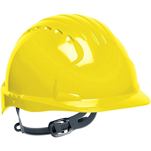 Safety Works Pro Hard Hat, Yellow, 6-Point Slip Suspension by Safety Works