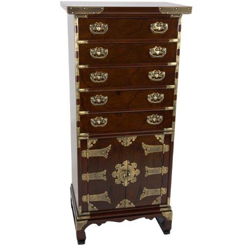 Oriental Furniture Korean Antique Style 5 Drawer Chest