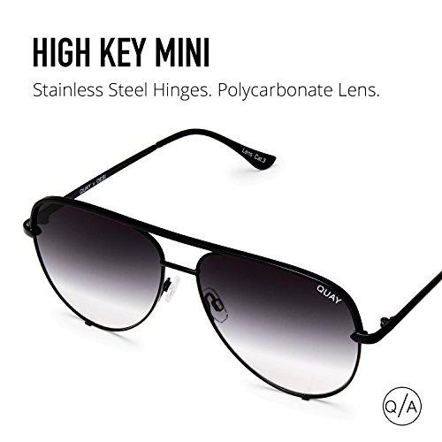 Quay Australia HIGH KEY MINI Men's and Women's Sunglasses Aviator Sunnies - Black/Fade by Quay Australia (Image #6)