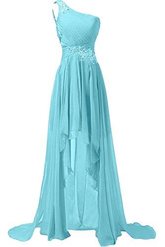 Abendkleider lang glitzer blau