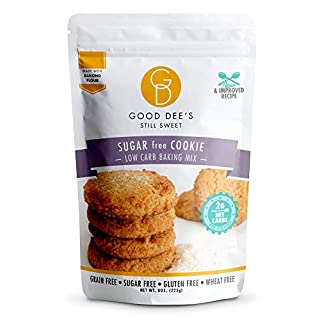 Good Dee's Sugar Cookie Mix – Low carb, Keto friendly, Sugar Free, Gluten free, Grain Free, Atkins friendly, Diabetic friendly, WW Friendly, 2g net carbs , 12 servings