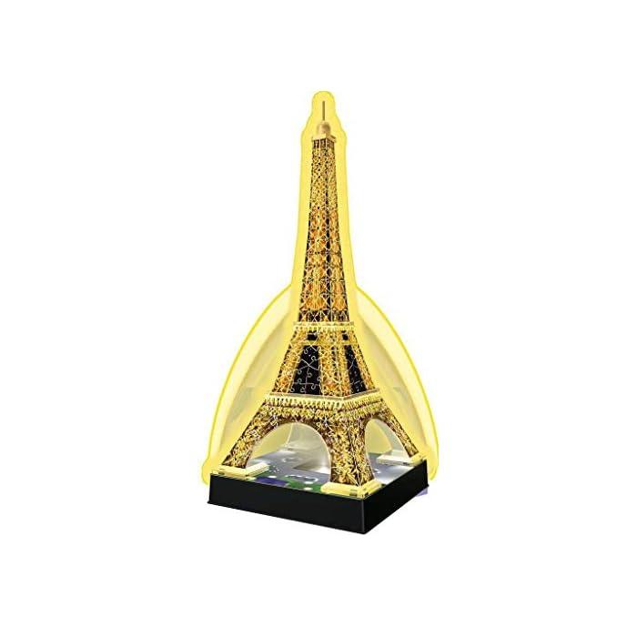 41PMV56qnWL Contiene 216 piezas con la tema de Tour Eiffel Piezas de plástico que se encajan perfectamente sin uso de pegamento Versión 3D