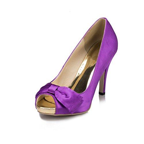 Kevin jyg074 Prom sandalias noche boda Slip novia fiesta On Fashion morado satinado nbsp;Ladies 11v5rqw